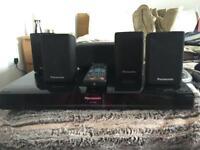 Home cinema system Panasonic SA-PT480 with iPhone doc