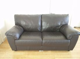 3 person faux-leather sofa