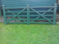Wooden five bar gates and door furniture with pins