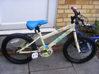 """GIRLS 18"""" WHEEL BIKE HARDLY USED IN GREAT WORKING ORDER NO RUST AGE 5+"""