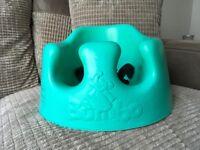 Excellent condition aqua baby Bumbo baby seat