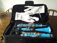 Childrens 'Glory' Clarinet including travel case and extras. Suitable for 8 years upwards.
