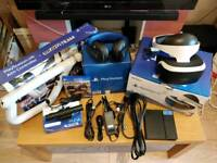 Sony PS4 VR Bundle, camera, Aim Controller, headset and Bravo Team
