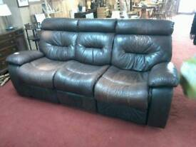 3 seaters sofa leather tcl 17297
