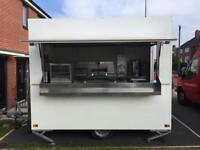 Catering trailer. Wilkinson trailer. Food van. Burger van. Mobile food truck.
