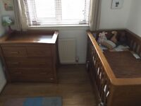 Mamas and Papas Nursery Set - Cot and Chest of Drawers