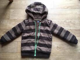 warm fluffy inside outer cotton hoodie jacket 4/5yo