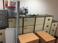 7 filing cabinets and 3 pedestals - great deal can have for FREE