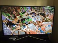 samsung ue48j500 led smart tv complete with glass stand warranted until 2019