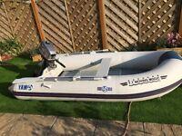 Yam/Yamaha 310s inflatable boat c/w 4hp mariner