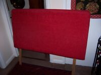 LARGE DOUBLE RED HEADBOARD