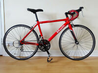 B'twin Triban 3 road bike, size 48cm (XS), fully serviced, carbon parts, upgraded tyres + spare set
