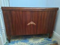 Large wooden storage chest