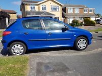 2003 PEUGEOT 206 LOW MILEAGE 64000 LADY PREVIOUS OWNER.