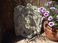 Large Concrete Buddha Wall Plaque/Tea Light Holder – Garden Ornament