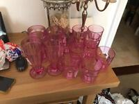 Set Of 12 Pink Choice Glasses