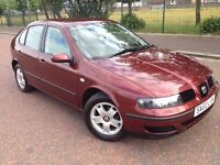 2002 Seat Leon 1.4 , mot - July 2017 , only 48,000 miles , service history ,golf,astra,focus,megane
