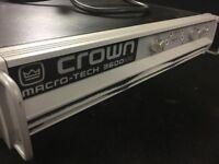 Crown Macro Tech 3600 VZ Amplifier Amp