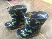 Toddler boys size 7 dinosaurs wellie boots from Next