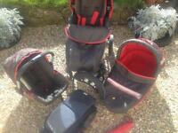 Hauck Apollo 4 travel system pushchair, car seat, from birth