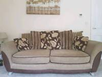 2no three seater sofas