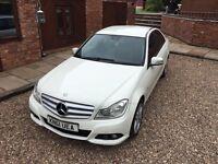 Mercedes Benz CClass 61 plate Full Leather , Sat Nav , Parking sensors