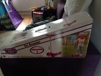 Girls tri scooter Brand New!