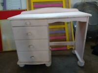 Pink dressing table/drawer unit