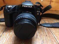 Pentax K10D Digital SLR Camera (18-55mm Lens) with cover