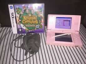 Nintendo DS with Animal Crossing Wild World game