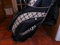 A Slazenger Golf CART Bag, Burberry Patterned,