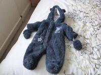 Navy Disney Baby All In One Pram Suit 0 - 3 months