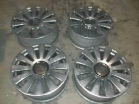"19"" genuine audi a8 alloy wheels 5x 112"