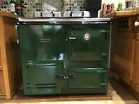 Lovely Racing Green Rayburn Nouvelle Range Cooker - sensible offers considered