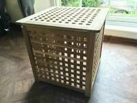 Ikea HOL Wooden Storage Box/Side Table