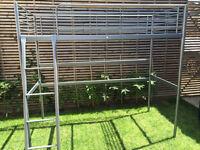 Metal high sleeper single bed frame, vgc