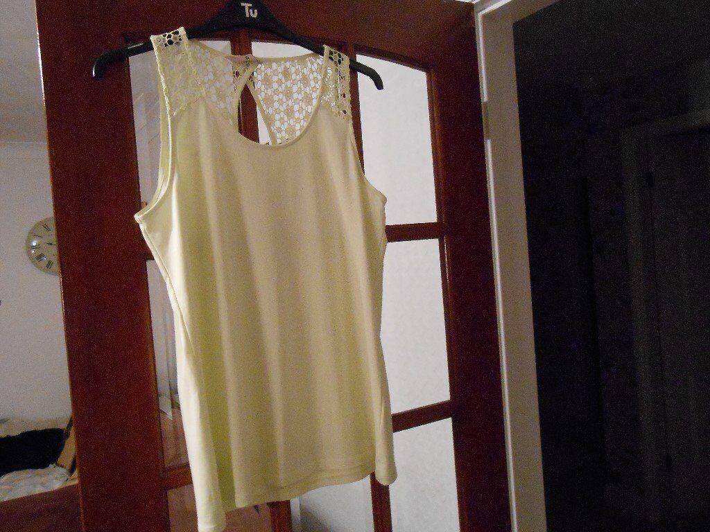 Ladies Top - Size 20 - Lemon - TU