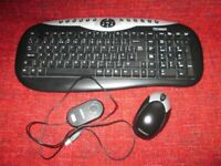 Technika Wireless Deskset (Keyboard and Optical Mouse) - £8