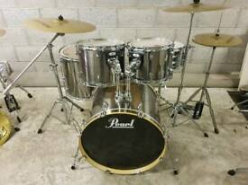 Pearl Forum Drum Kit inc Hardware & Cymbals