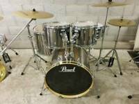Pearl Forum Drum Kit inc Hardware & Cymbals