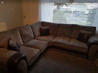 Nearly New Corner Sofa and Swivel Chair