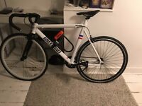 WHITE ALLOY ROAD BIKE- FIXED GEAR AND SINGLE SPEED -FIXIE ROAD BIKE -9 KG ONLY