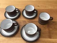 Hornsea Pottery 'Contrast' Cups & Saucers
