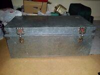 Metal storage/tool trunk/box