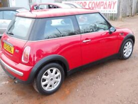 MINI ONE 2002 52 1.6 LTR PETROL 1 YEAR FRESH MOT SERVICE HISTORY 64000 MILES WARRANTIED CLEAN CAR!