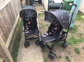 2 silvercross pop pushchairs
