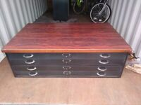 1960s Vintage Metal A0 Plan Chest Vintage Architects Drawers Vintage Industrial Drawers 1