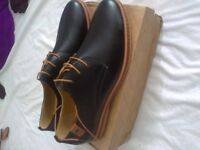 pair of brand new mens casual dress light leather oxford shoes sizes 11.5 plus 11