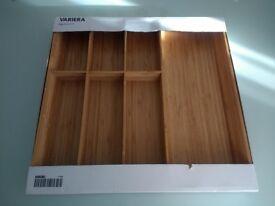Ikea Variera Bamboo Cutlery Drawer Tray 52 x 50cm Brand New