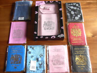 BRAND NEW PASSPORT COVERS / HOLDERS in VARIOUS COLOURS PLUS OTHER HOLIDAY ITEMS